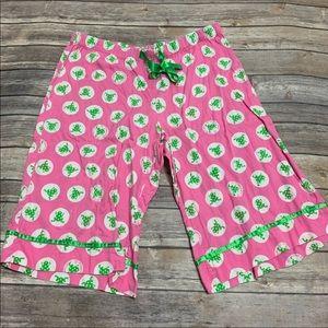 Victoria's Secret Frog Pajama Capri Pants